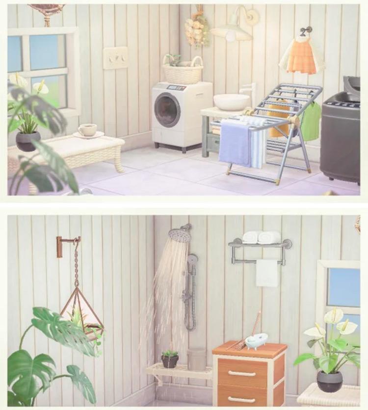 Laundry Room Basement Idea for ACNH