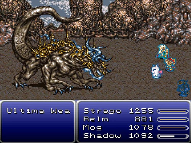 Ultima Weapon Boss Battle in FF6 SNES version
