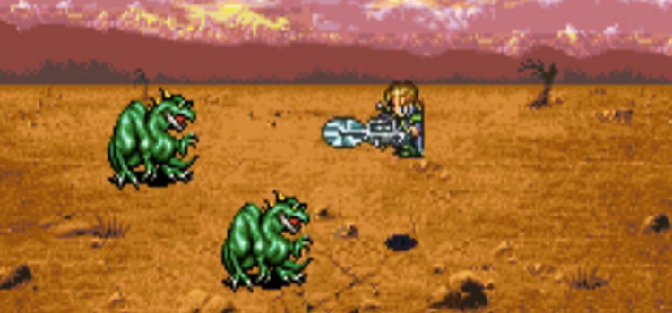 FF6 Battle - Edgar Chainsaw Tool Screenshot