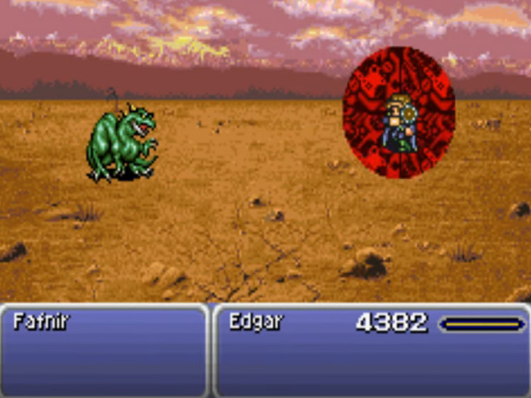 Debilitator Edgar in FF6