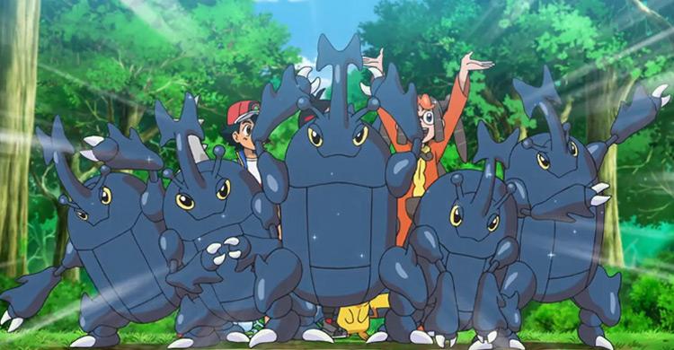 Heracross Pokemon in the anime