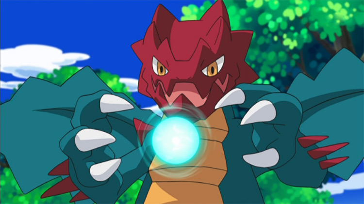Druddigon Pokemon anime screenshot