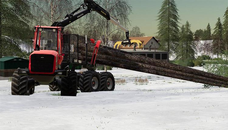Komatsu 895 Clambunk Crane - FS19 Mod