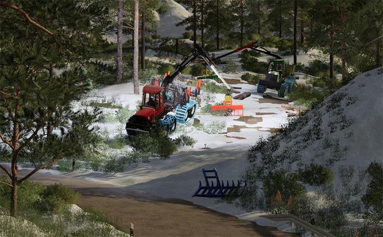 Kirmag Tree Waste Rake for FS19