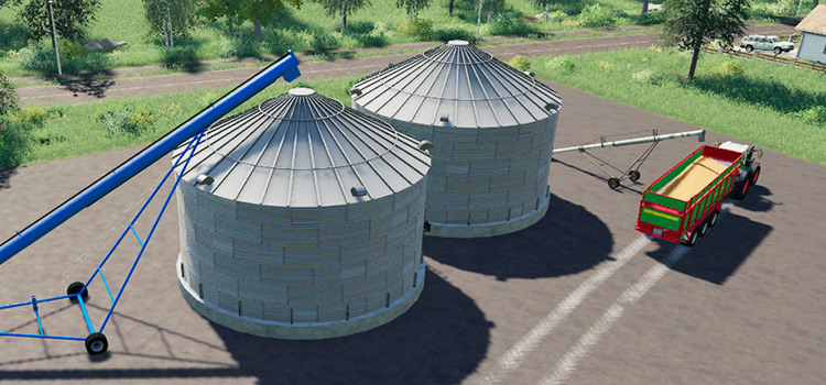 FS19 Grain Silos Modded Preview