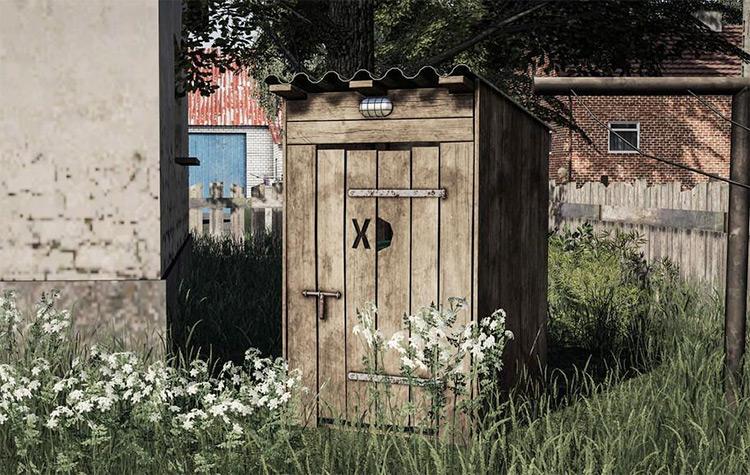 Wooden Toilet FS19 Silo Mod