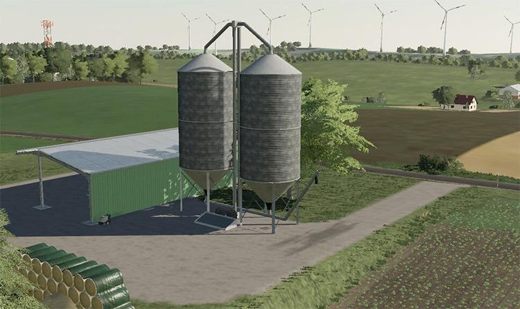 Large Farm Silo Mod for FS19