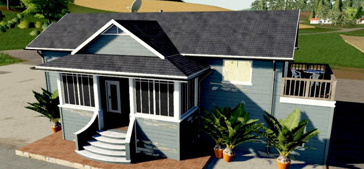 Big Blue Farmhouse Mod for FS19