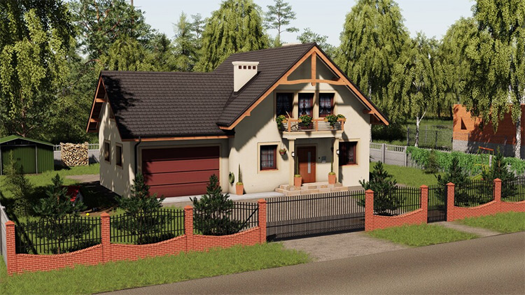 Modern Decorative House Mod for FS19