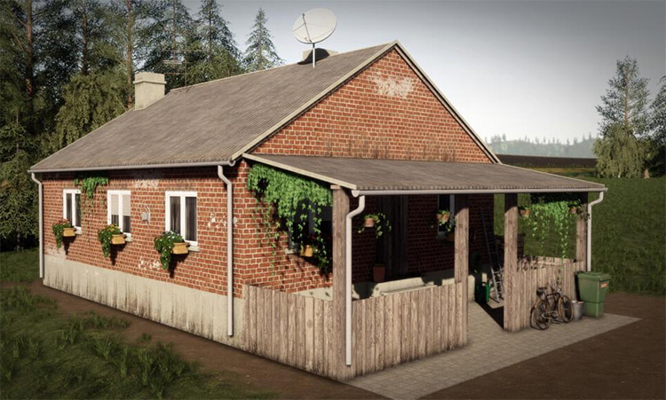 Old Farmhouse home mod pack for FS19