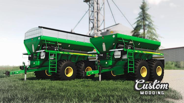 John Deere DN 345 fertilizer spreading trailer mod