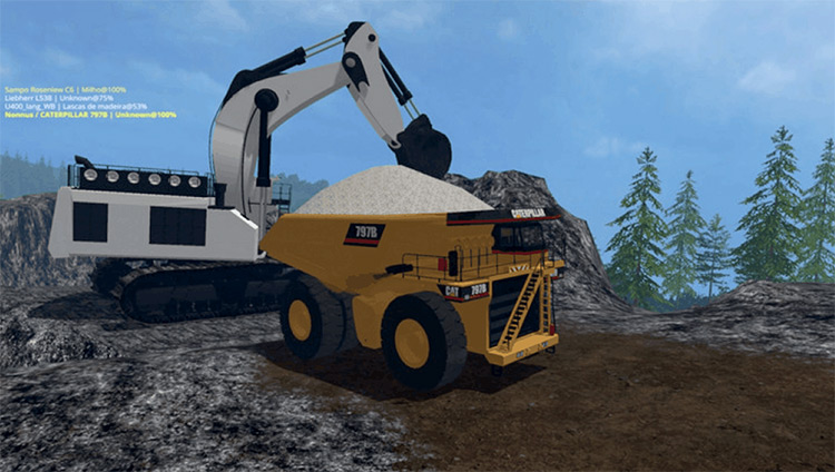 Liebherr 9800 Excavator FS19 Mod