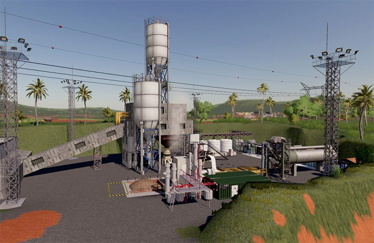 Mining & Construction Economy Map for FS19