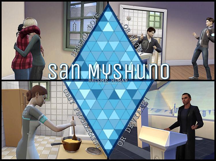 San Myshuno: Become Human Sims 4 CC