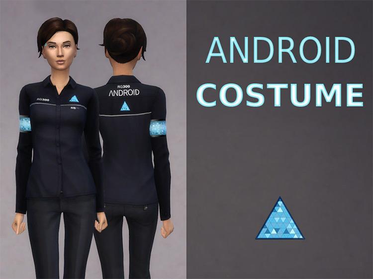 Female Android Costume Sims 4 CC