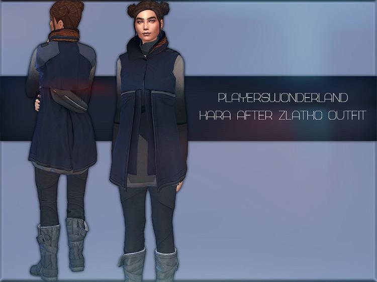 Kara's Post-Zlatko Outfit Sims 4 CC