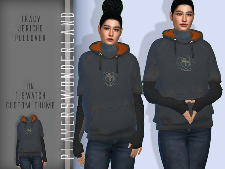 Tracy's Jericho Pullover for Sims 4