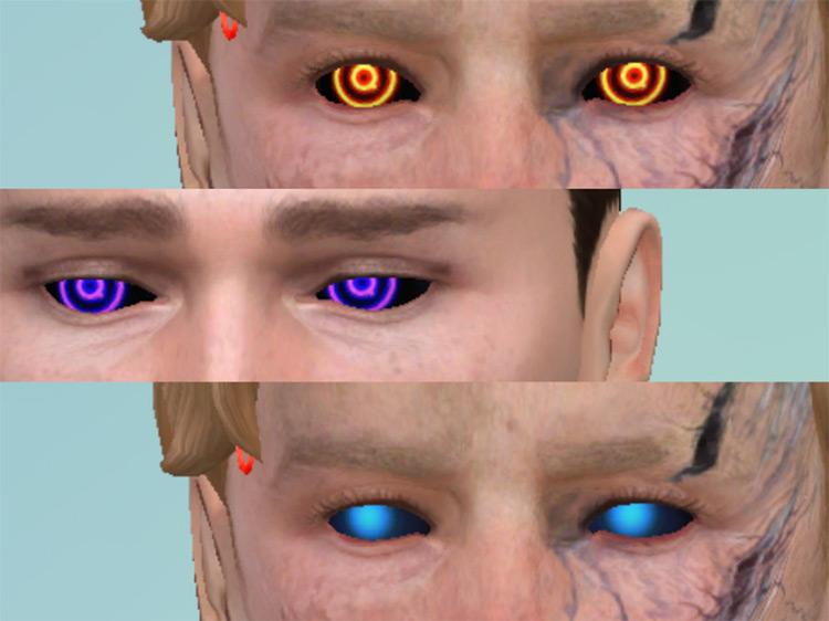Damaged Android Eyes TS4 CC