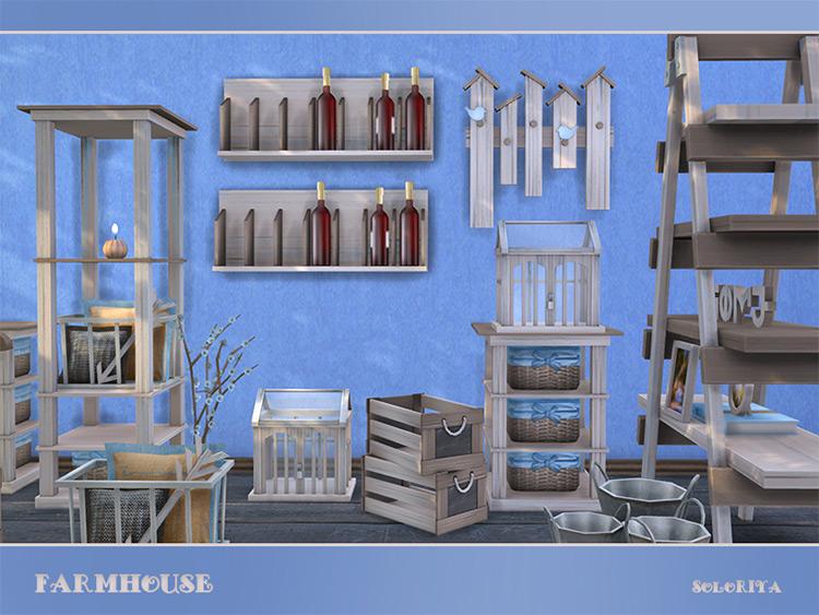 Farmhouse Set by soloriya Sims 4 CC