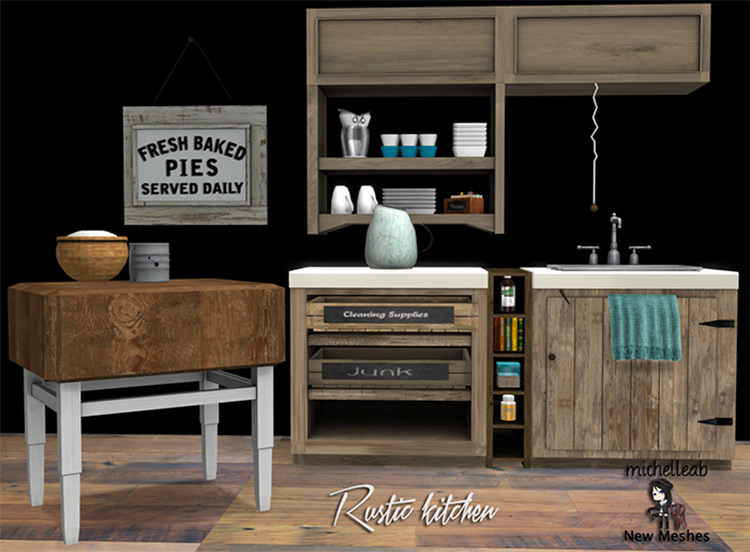 Rustic Kitchen by michelleab for Sims 4