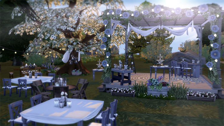 The Sims 4 Rustic Romance Stuff Pack by The Plumbob Tea Society Sims 4 CC