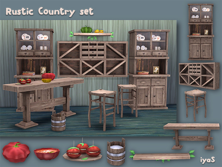 Rustic Country Set by soloriya for Sims 4