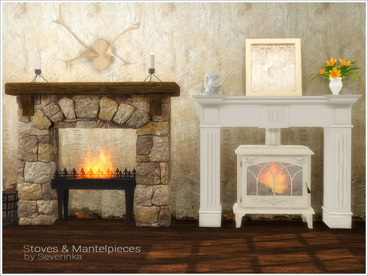 Stoves and Mantelpieces by Severinka_ TS4 CC