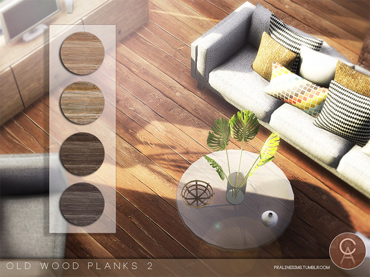 Old Wood Planks 2 by Pralinesims Sims 4 CC