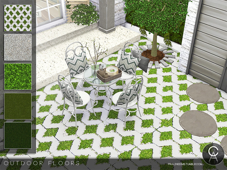 Outdoor Floors by Pralinesims for Sims 4