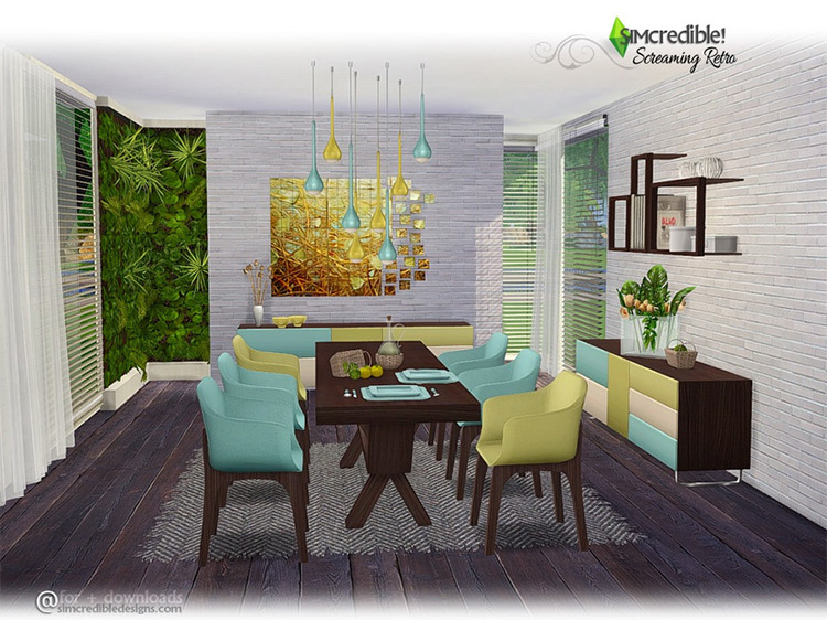 Screaming Retro by SIMcredible! for Sims 4