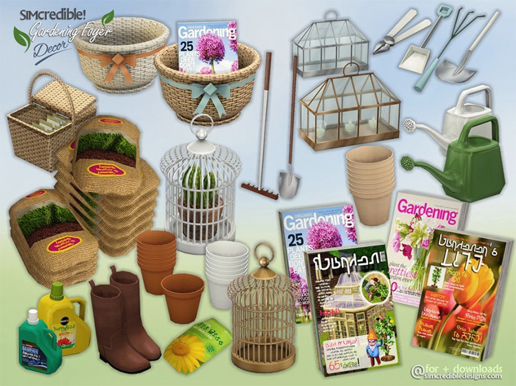 Gardening Foyer Décor by SIMcredible! TS4 CC
