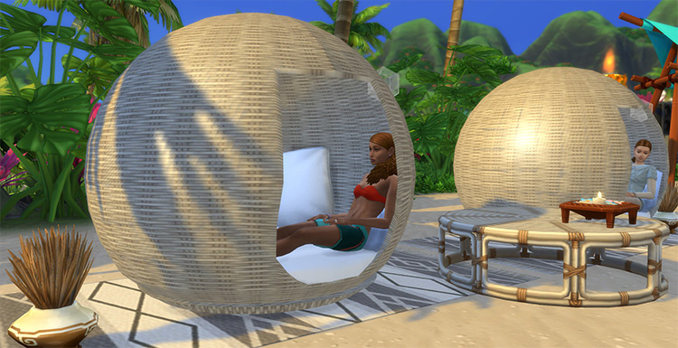 Bohemian Egg Lounge Chair for Sims 4