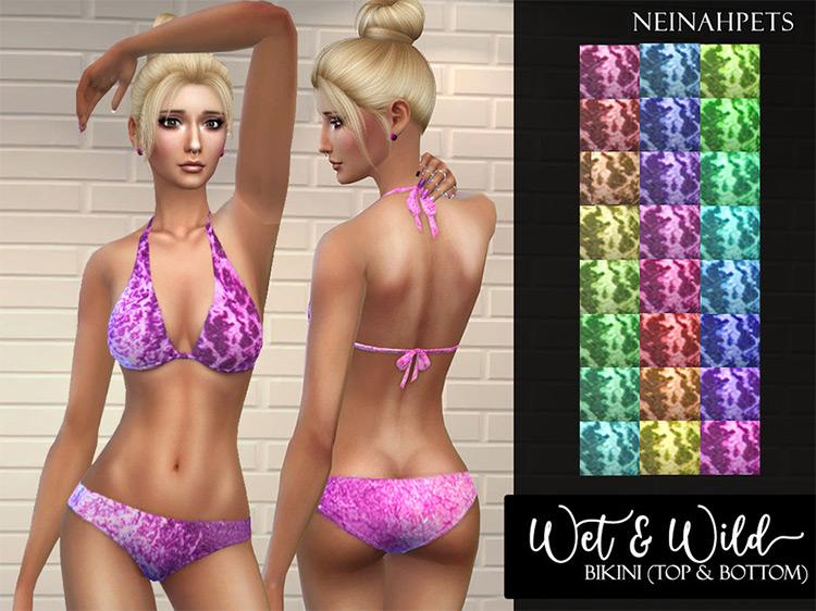Wet & Wild Bikini Sims 4 CC