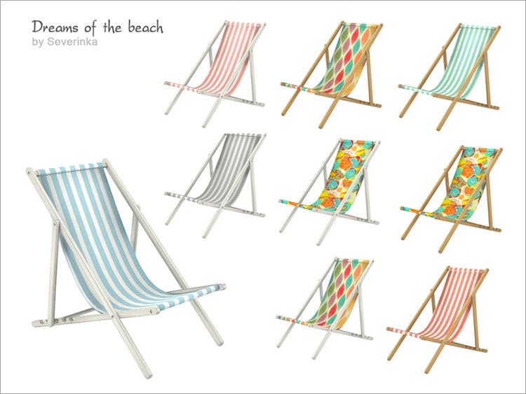 Beach Deck Chair for Sims 4