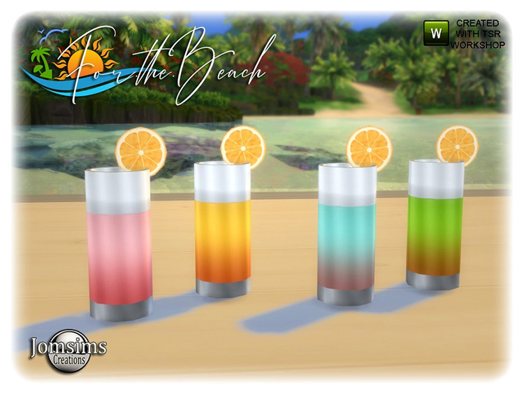 For the Beach Cocktails TS4 CC