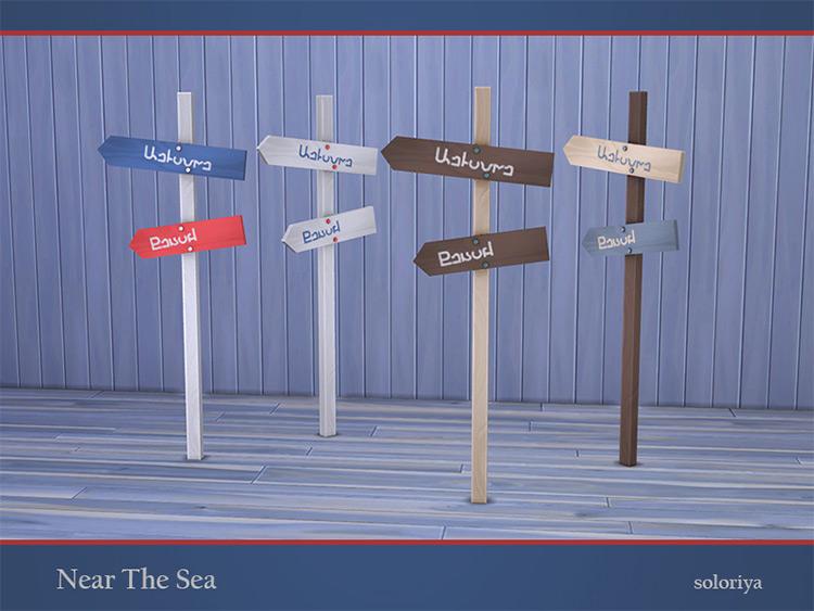 Near the Beach Signs Sims 4 CC