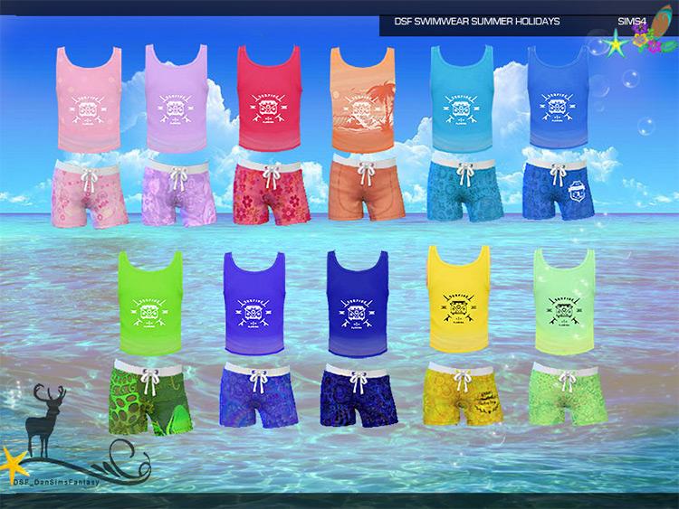 DSF Swimwear Top Sims 4 CC screenshot