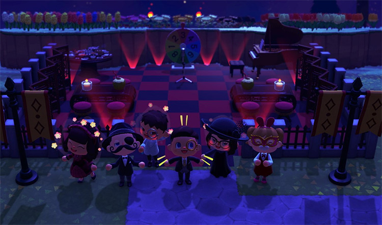 Nighttime red and black casino - ACNH