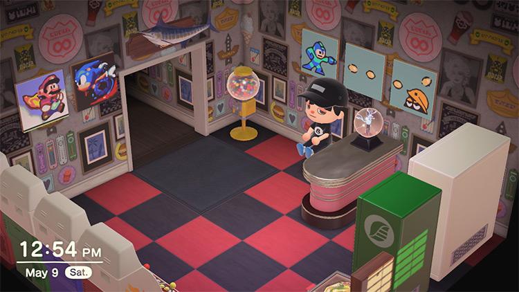Classic retro arcade room design - ACNH