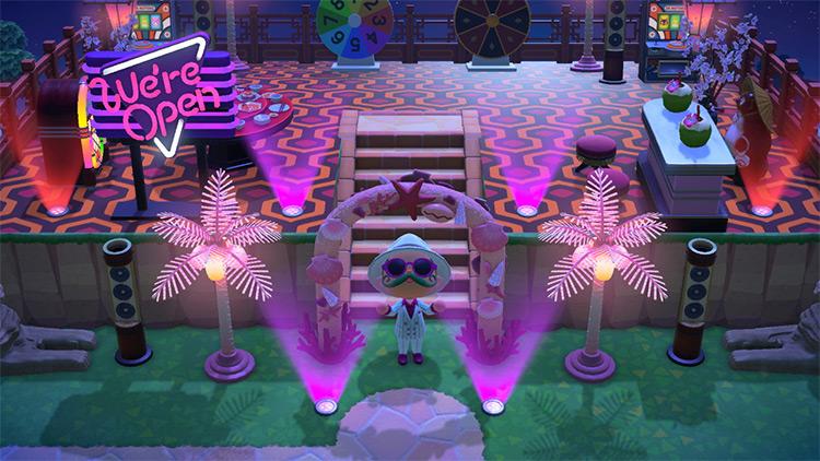 Bright Neon Pink Palms Springs Casino - ACNH Idea
