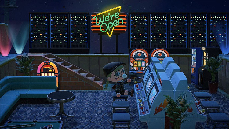 Dark Outdoor Casino Area - ACNH