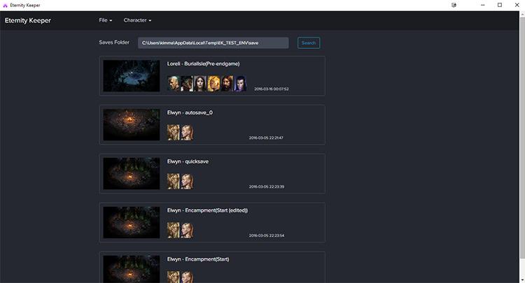 Save Game Editor Mod for PoE1