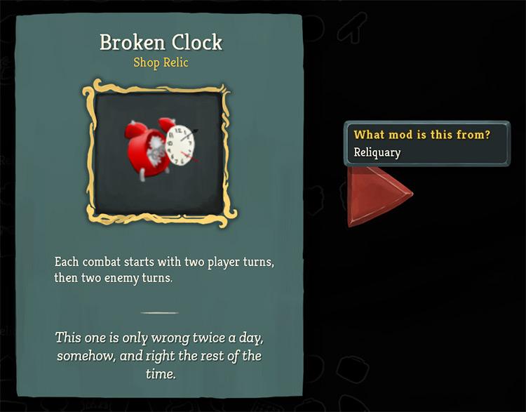 Reliquary Mod for Slay The Spire