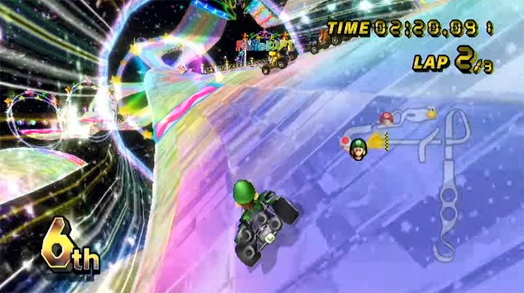 Mario Kart Wii gameplay