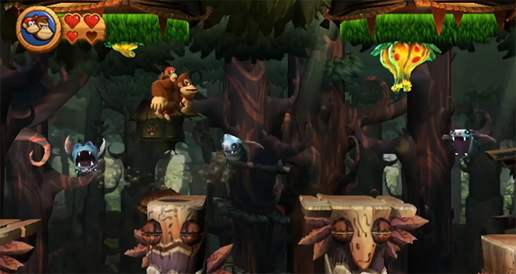 Donkey Kong Country Returns Wii gameplay