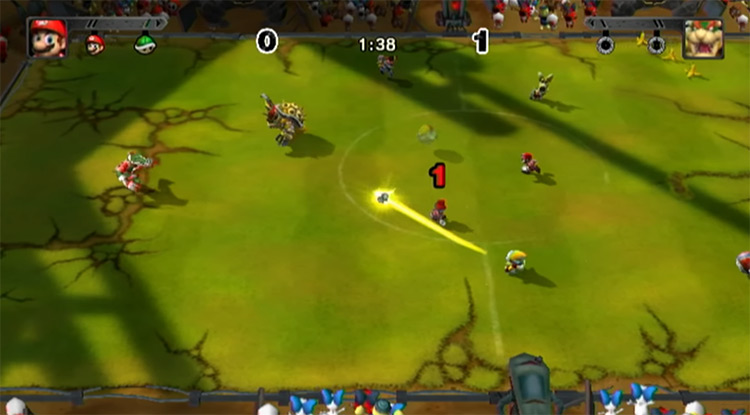 Mario Strikers Charged game screenshot