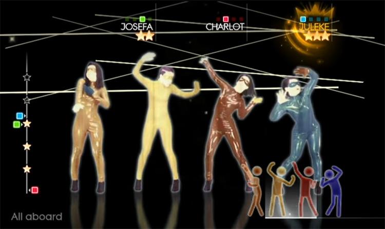 Just Dance 4 Wii gameplay