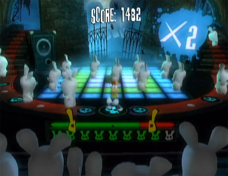 Rayman Raving Rabbids Wii gameplay