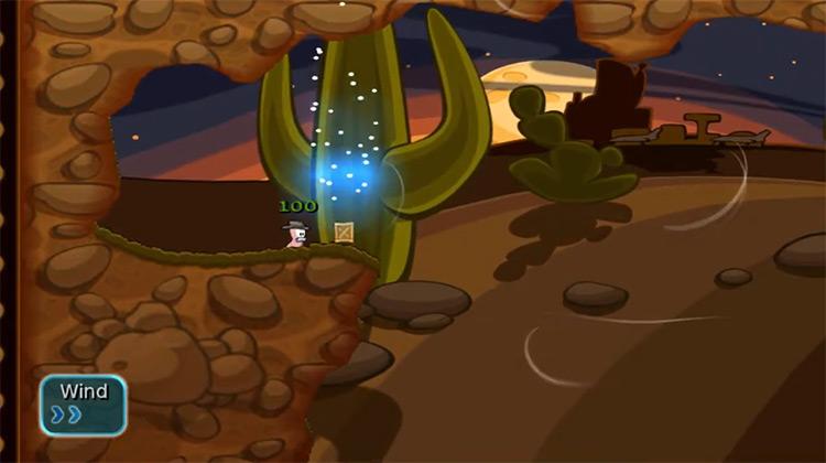 Worms Battle Islands Wii screenshot