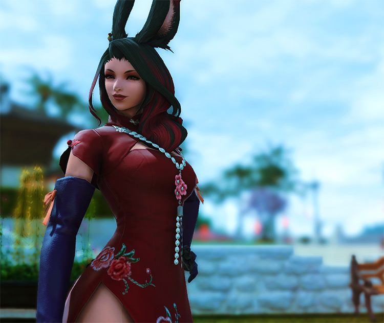 FFXIV Vierra Glamour as Jessica Rabbit